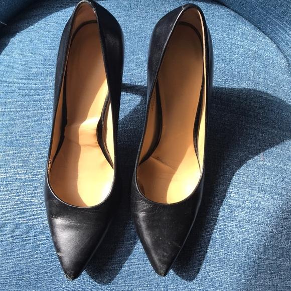 black pumps 3.5 inch heel